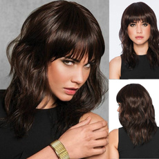 wig, Natural, human hair, Women's Fashion