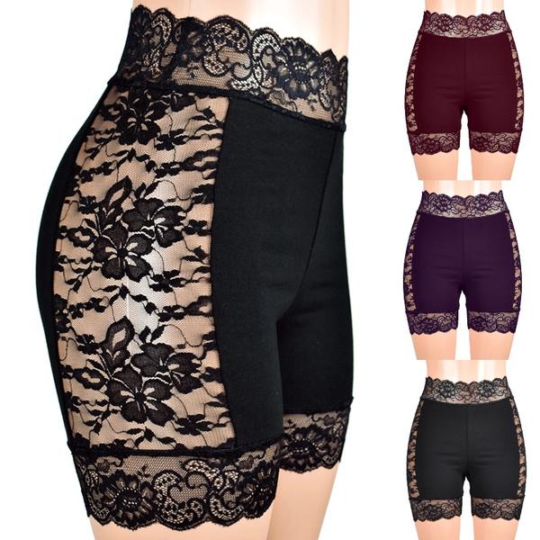 Cotton, lace trim, Leggings, Shorts
