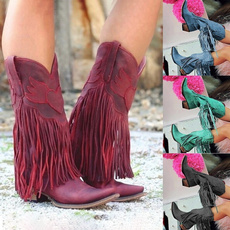bohemia, midcalf, Boots, pointed