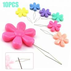 sewingtool, flowershape, stitchthreader, flowershapeneedlethreader