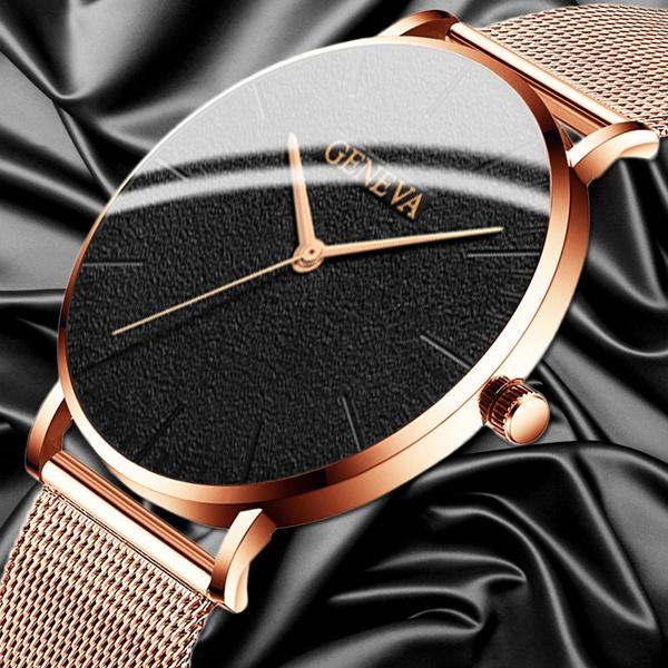 quartz, Casual Watches, gold, analogwatche