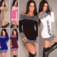Autumn Dress, sexysweaterdresse, Women Sweater, sweater dress