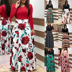 Plus Size, high waist, Elegant, long dress