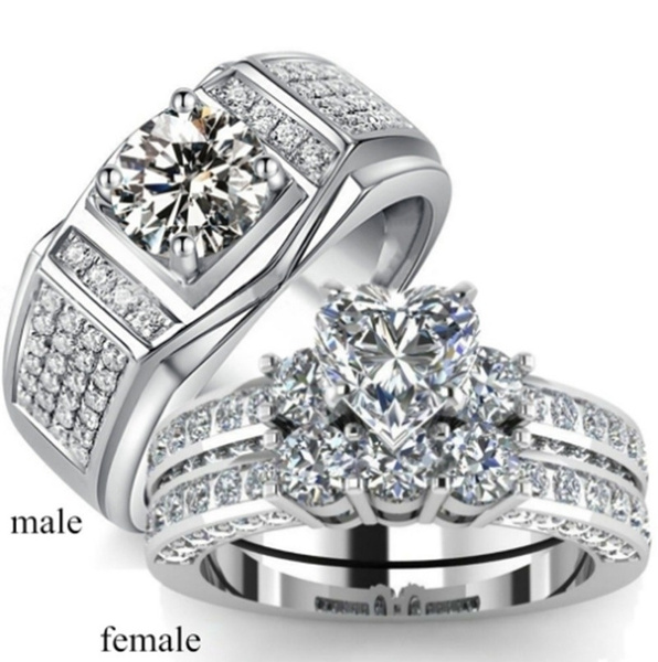 Sterling, Couple Rings, Fashion Accessory, DIAMOND