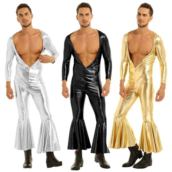 metallicbodysuit, Deep V-Neck, Cosplay, Metallic