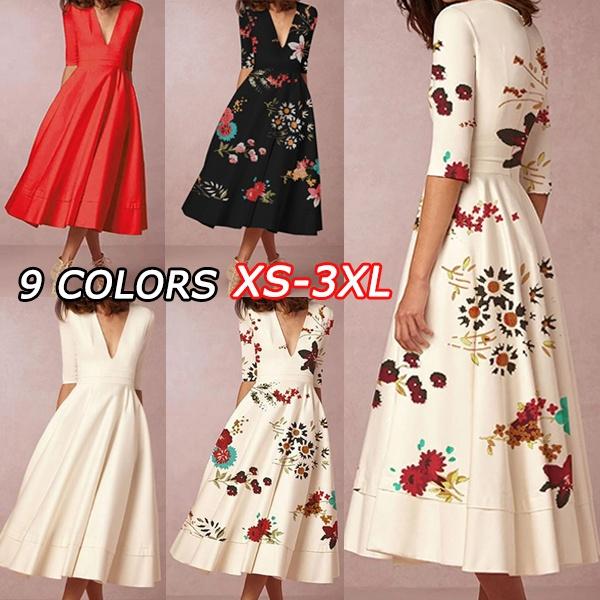 Fashion, pleated dress, long dress, plus size dress