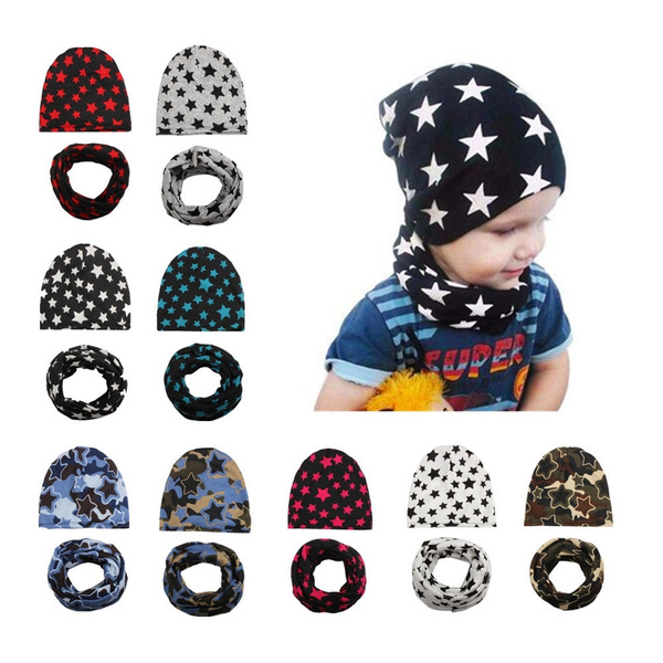 Fashion, knit, pentagram, baby hats