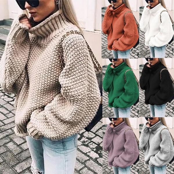 Bat, Women Sweater, batwingsleevesweater, solidcolorsweater