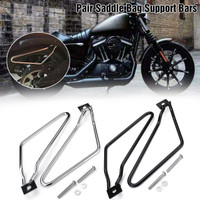 Noblik Motorcycle Sacoches Sacoches Supports Support pour Sportster 883 Iron XL883N Dyna Bob Fxdf V-Rod Softail Cafer Bobber Chopper Touring pour Noir