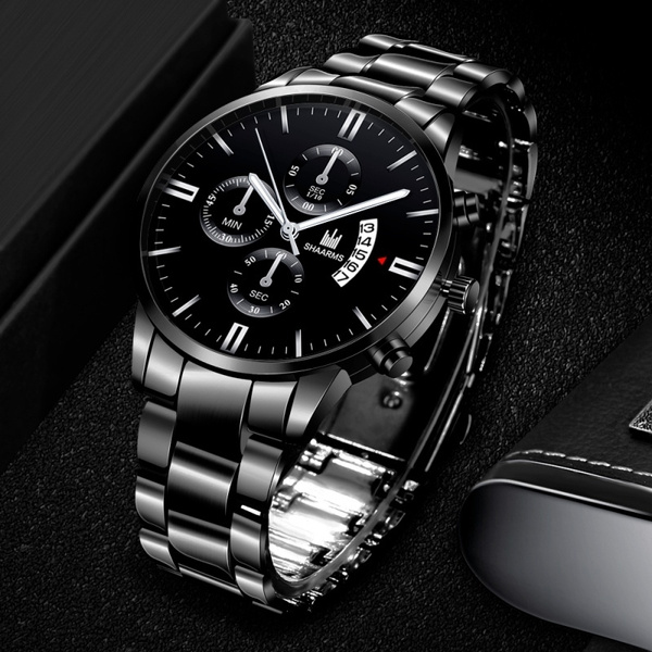 Steel, quartz, Jewelry, business watch