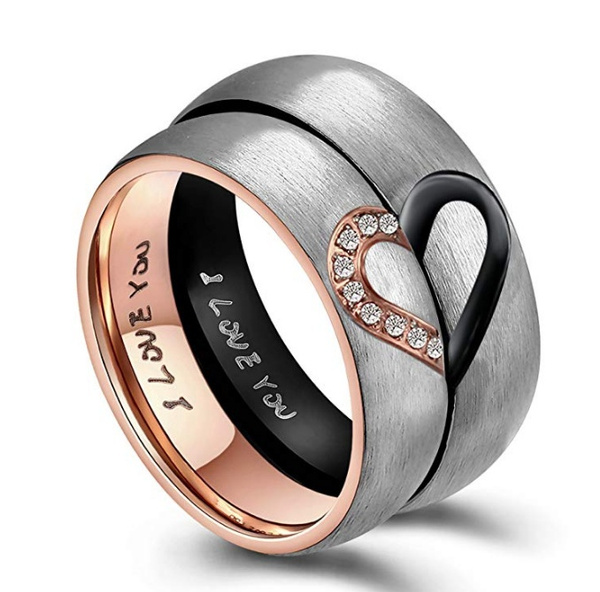 Couple Rings, Steel, Stainless Steel, Love