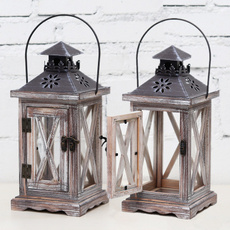 Candleholders, tealightholder, Wooden, candlestick