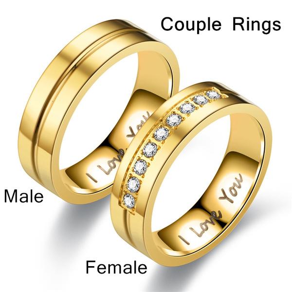 Steel, goldplated, Love, Jewelry