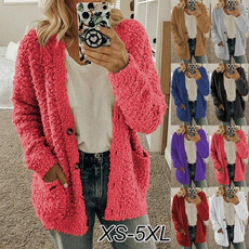 Plush, cardigan, Winter, Sleeve