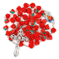catholicrosarynecklace, Chain Necklace, Jewelry, Chain