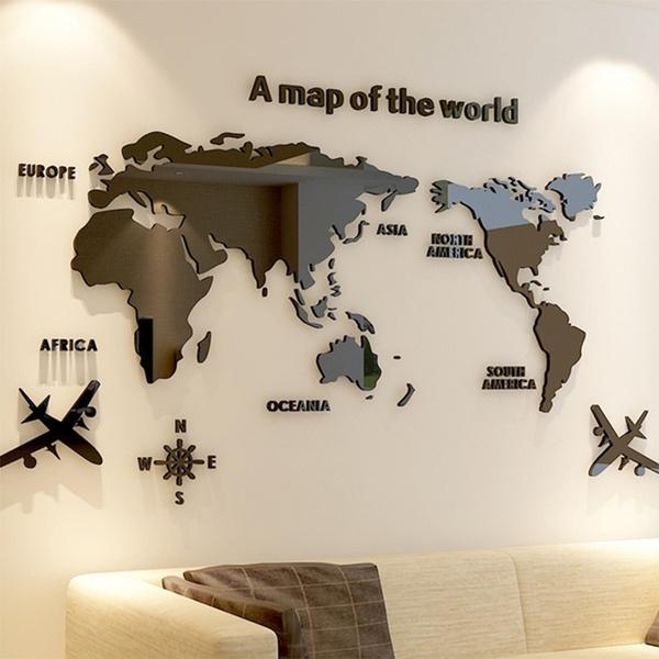 living room, Office, worldmap, worldmapposter