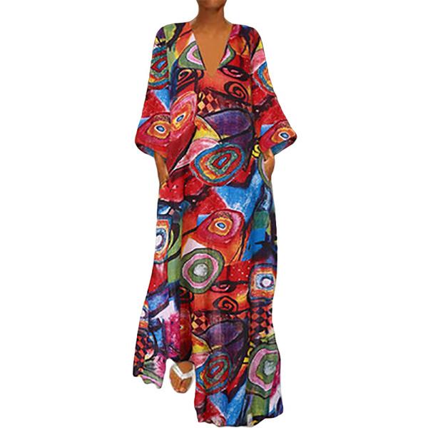 Summer, printeddres, plus size dress, Dress