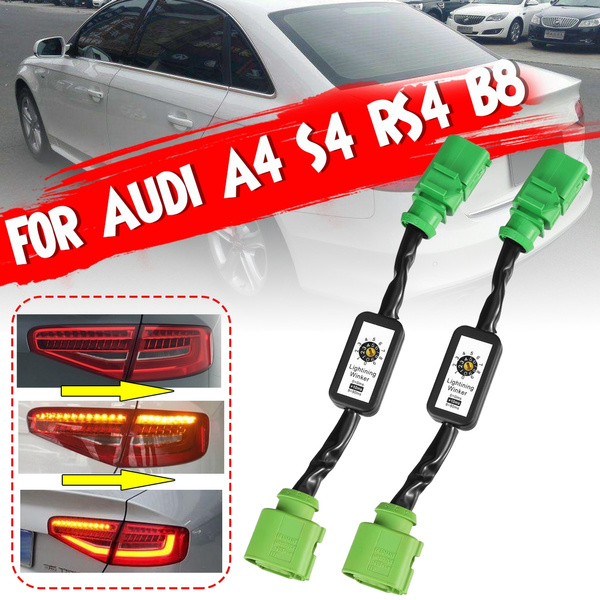 WEISHAN 2 x Semi Dynamic Turn Signal Indicator LED Tail Light Module For Audi A4 S4 RS4 B8