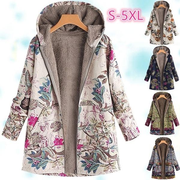Plus Size, zipperjacket, fluffy, Women's Fashion