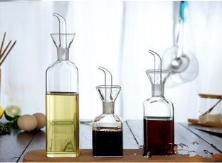 Kitchen & Dining, Glass, vinegarbottle, Kitchen Accessories