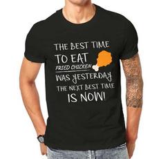 friedchickenshirt, Fashion, Cotton T Shirt, oneckmenstshirt