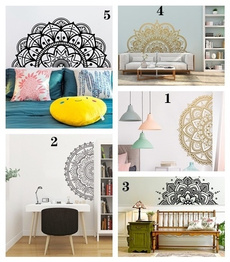 Yoga, Home & Kitchen, stickersmural, Flowers