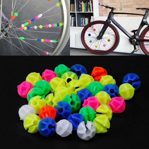 144pcs Kids Bicycle Bike Wheel Spoke Bead Butterfly Clip Colored Decoration