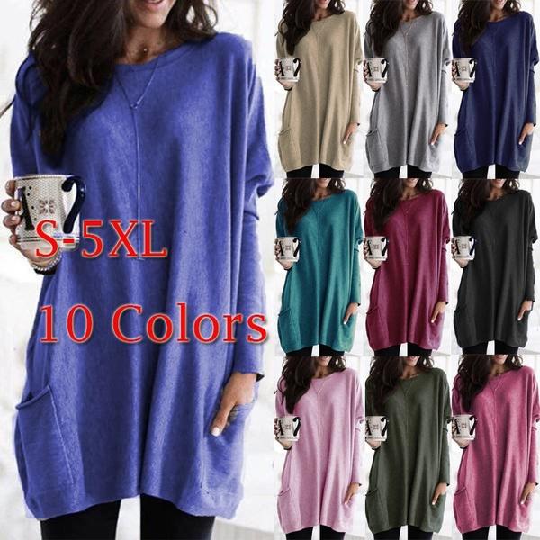 Plus Size, tunic top, solidcolortop, loose top