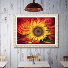 crossstitch, DIAMOND, Jewelry, Sunflowers