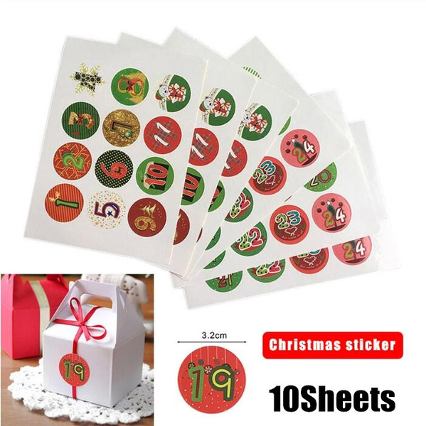 Christmas, Gifts, packages, Stickers