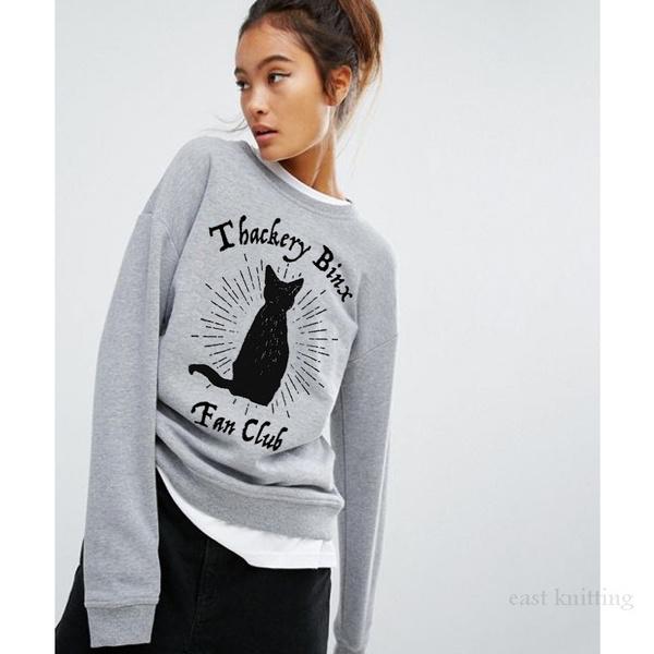 Plus Size, punk style, womens hoodie, Long Sleeve