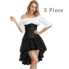 blouse, corset top, Goth, Fashion