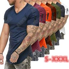 vnecktshirt, Fitness, Fashion, Slim T-shirt