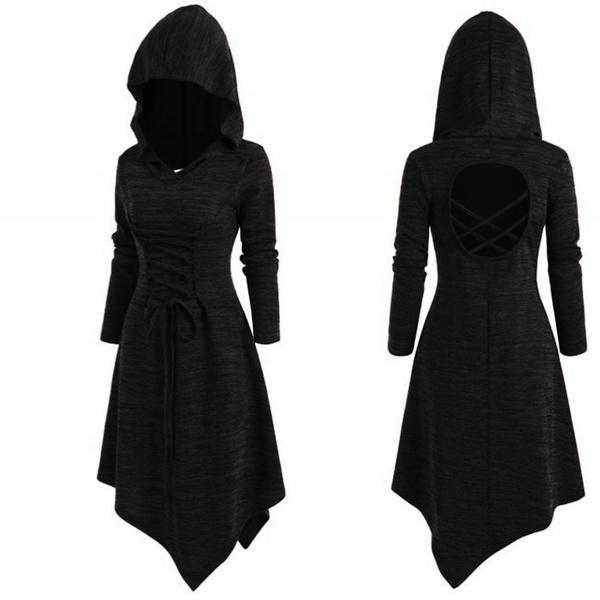 GOTHIC DRESS, bandage dress, Medieval, Long Sleeve