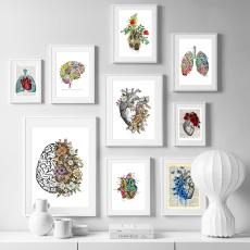 posterspainting, nordiclandscapeprintspaintingforhomedecor, art, Heart