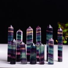 quartz, wand, Irregular, naturalfluorite