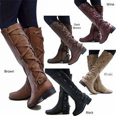 non-slip, Plus Size, knightboot, leather