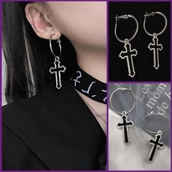 crossearring, punk earring, Earring, gothic