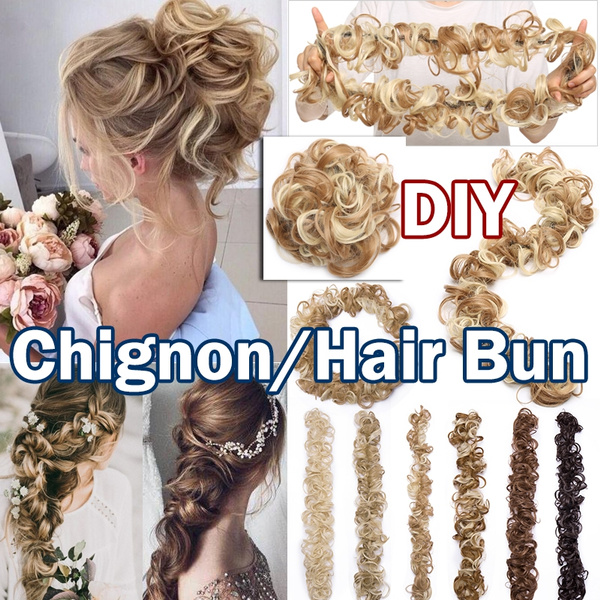 hairchignon, scrunchie, hairbun, Hair Extensions