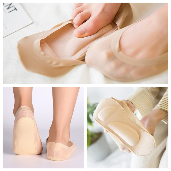 heelprotector, boatsock, silk, footpad