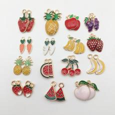 fruitpendant, goldplated, Jewelry, diypendant