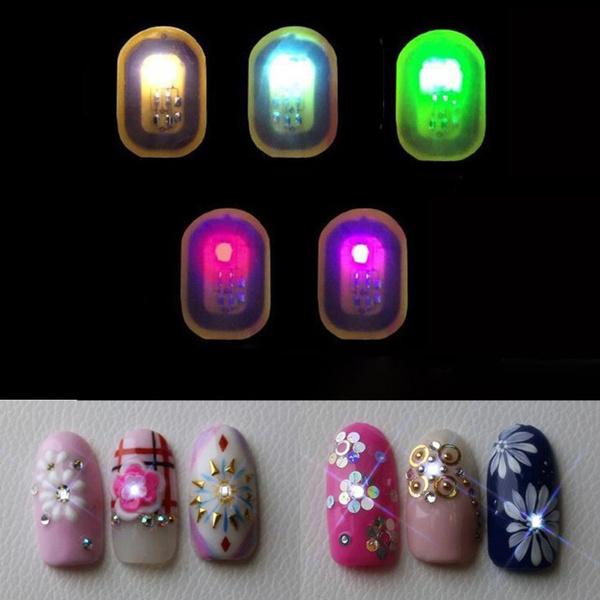 Flashlight, Nails, nail stickers, led