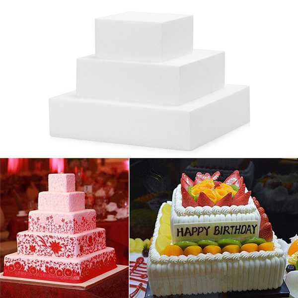 Decorations Dummy Practice Model Polystyrene Styrofoam Round Cake Foam Mould