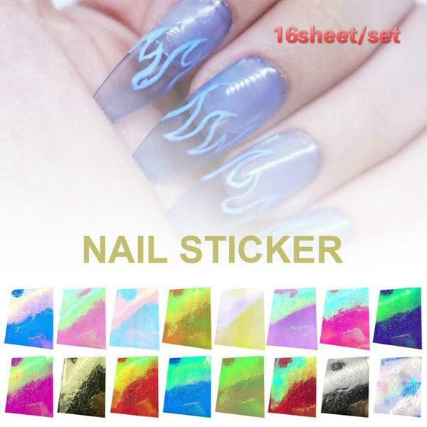 lasernailfoilsholographicnailfoil, nailholographicstrip, Holographic, art