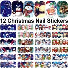 snowman, decoration, nail decals, art