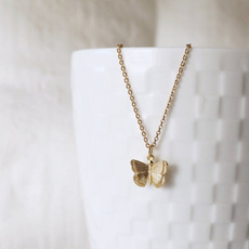 butterfly, minimalist, Jewelry, gold