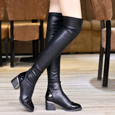 Fashion, thickheel, Winter, long boots