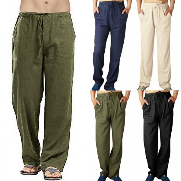 trousers, cottonlinen, Casual pants, pants