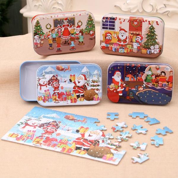 kidseducationaltoy, Christmas, Wooden, Jigsaw Puzzle