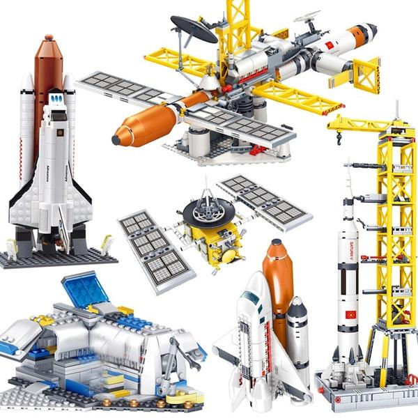 building, Toy, rocket, legoed